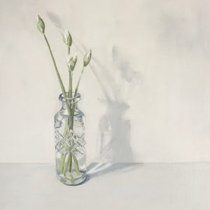 Wild garlic buds, oil painting for sale