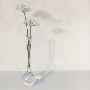 Wild garlic stems, oil painting sale