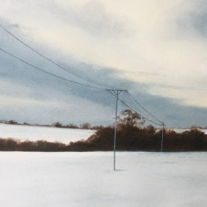 Static lines of silence Original Oil painting sale